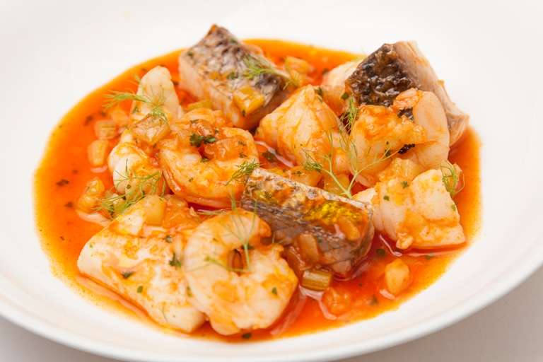 Low-fat fish stew