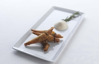 Squid cornets with rosemary mayonnaise