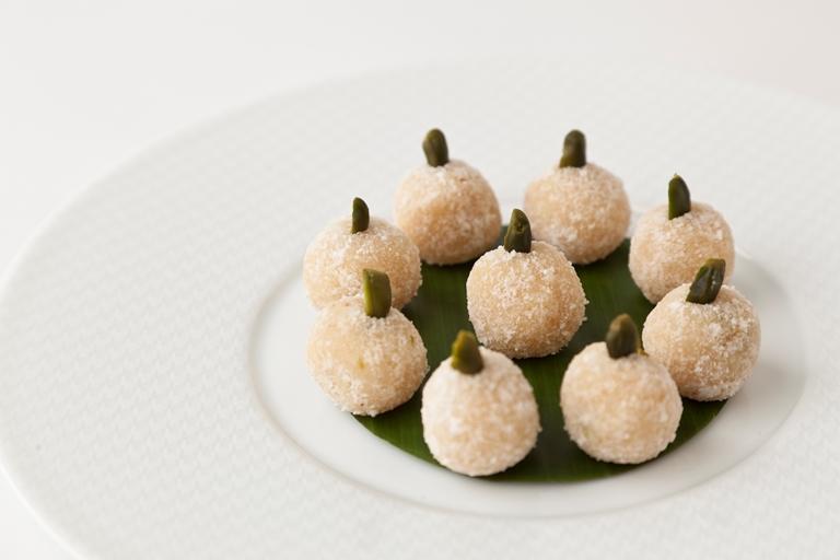 Coconut Pistachio Snowballs