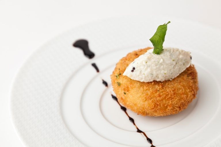 South Indian crab cake and crab chutney