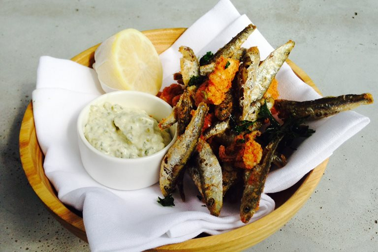 Devilled whitebait and calamari with tartare sauce