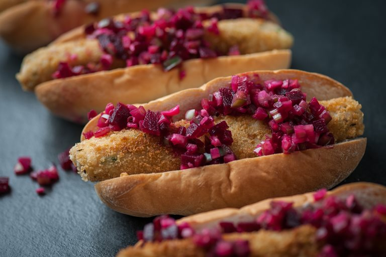 Fish dogs with winter chutney