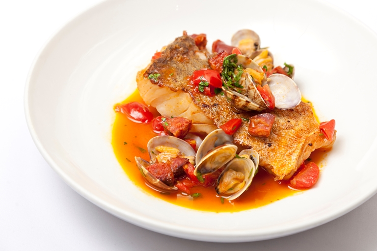 Cod with clams recipe great british chefs cod with clams and chorizo forumfinder Image collections