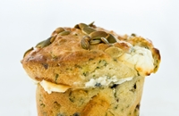 Olive, feta and herb muffins