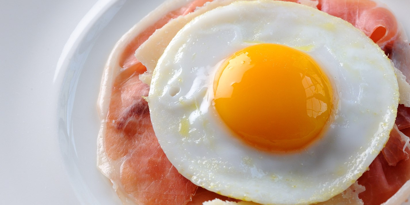 Ham Amp Fried Duck Egg Recipe With Parmesan Great British