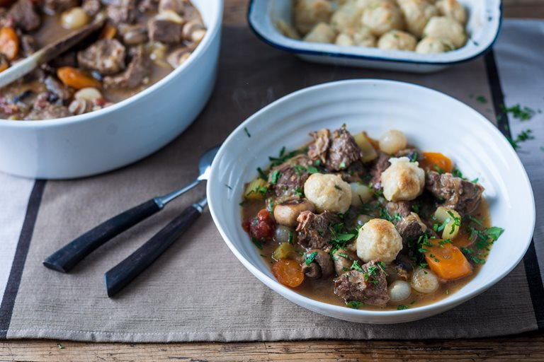 Beef stew and dumplings recipe