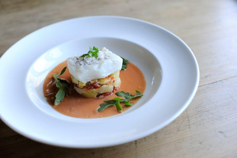 Salted Cod With Potatoes Chorizo Amp Vinegrette Great