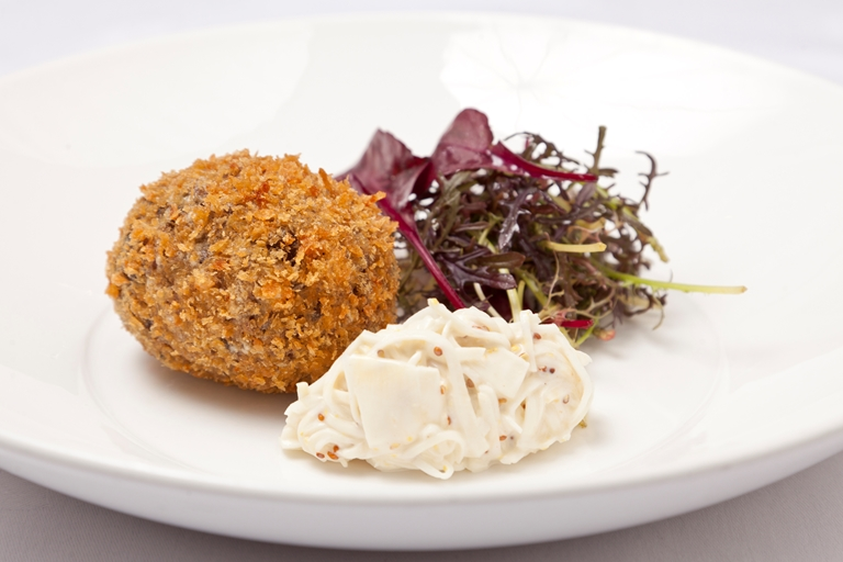 Venison and black pudding Scotch egg