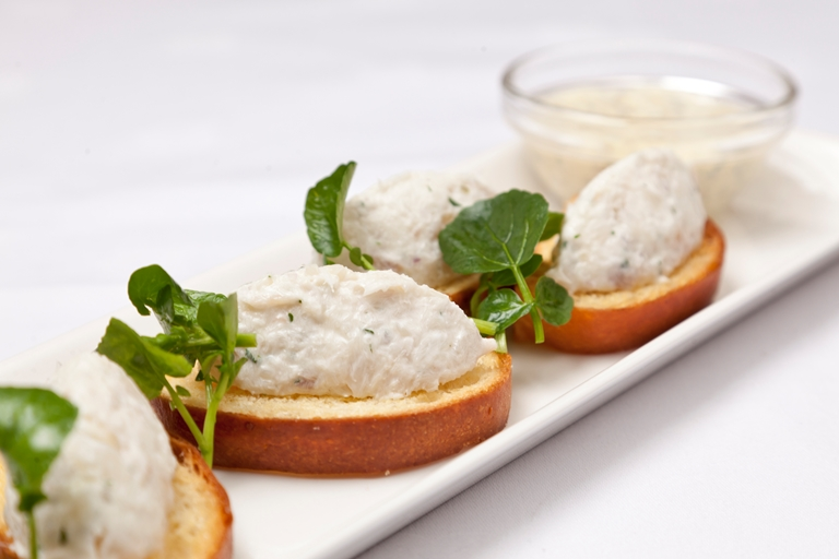 Smoked haddock rillettes with brioche and watercress