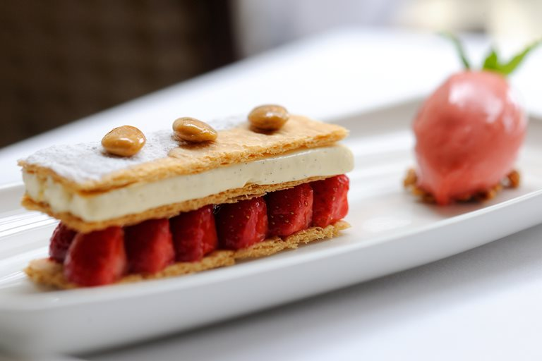 Strawberry mille feuille recipe