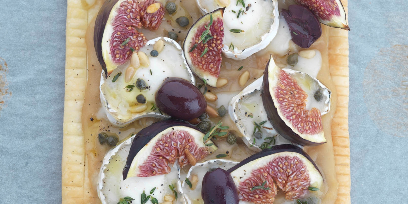 Goats Cheese Tart Recipe With Fig & Olive - Great British Chefs