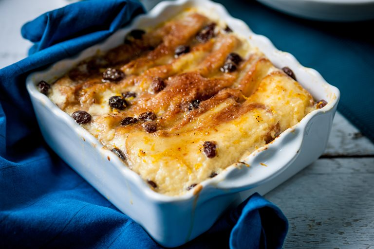 Brioche and butter pudding