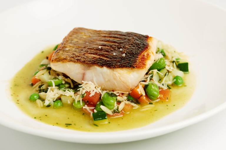 Fillet of sea bass 'au Pistou'