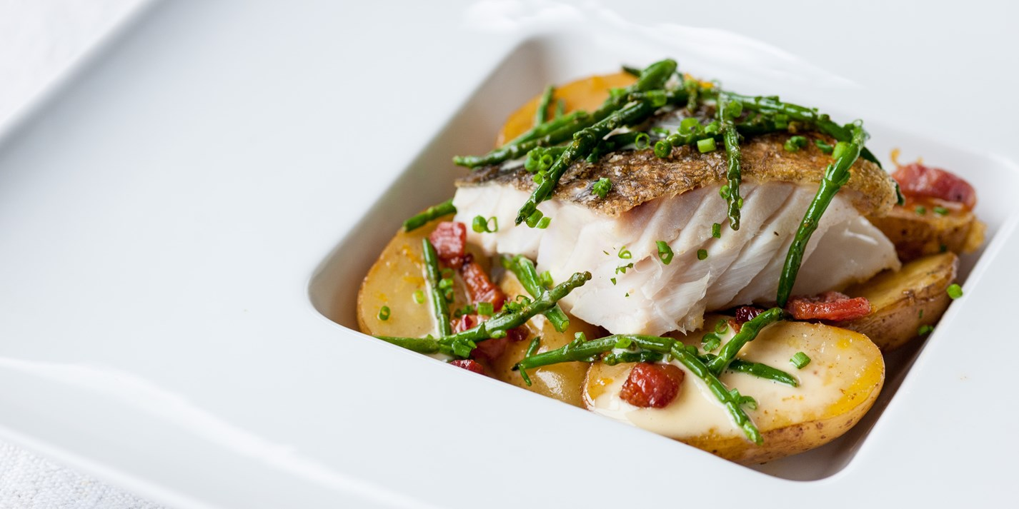 Pan Roast Cod Amp Jersey Royals With Pancetta Great