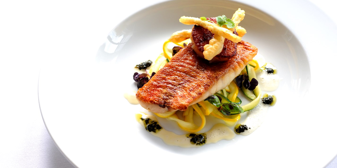 Red Mullet And Courgette Recipe Great British Chefs