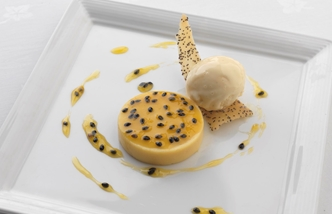 Passion fruit parfait