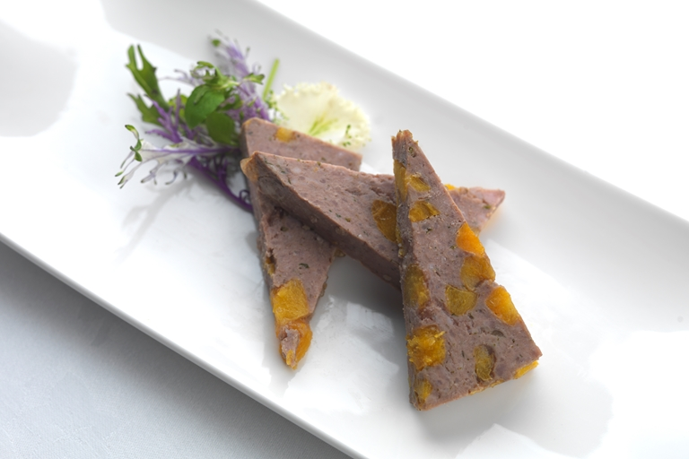 Pork and apricot terrine