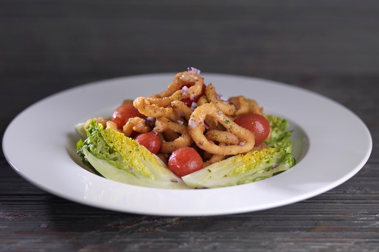 Calamari with Dijon cream
