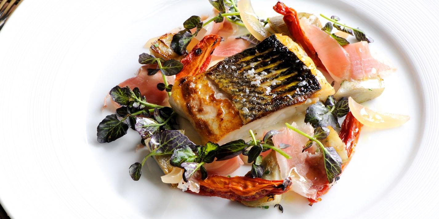 Sea Bass With Artichokes Recipe Great British Chefs