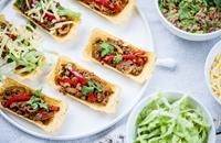 Spicy veggie tacos with guacamole