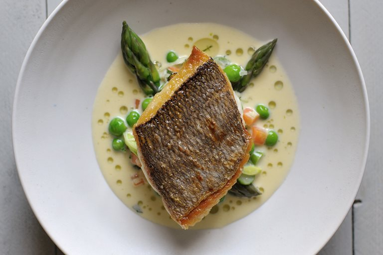 Bream recipe with mustard tarragon sauce great british for Grilled white fish recipes