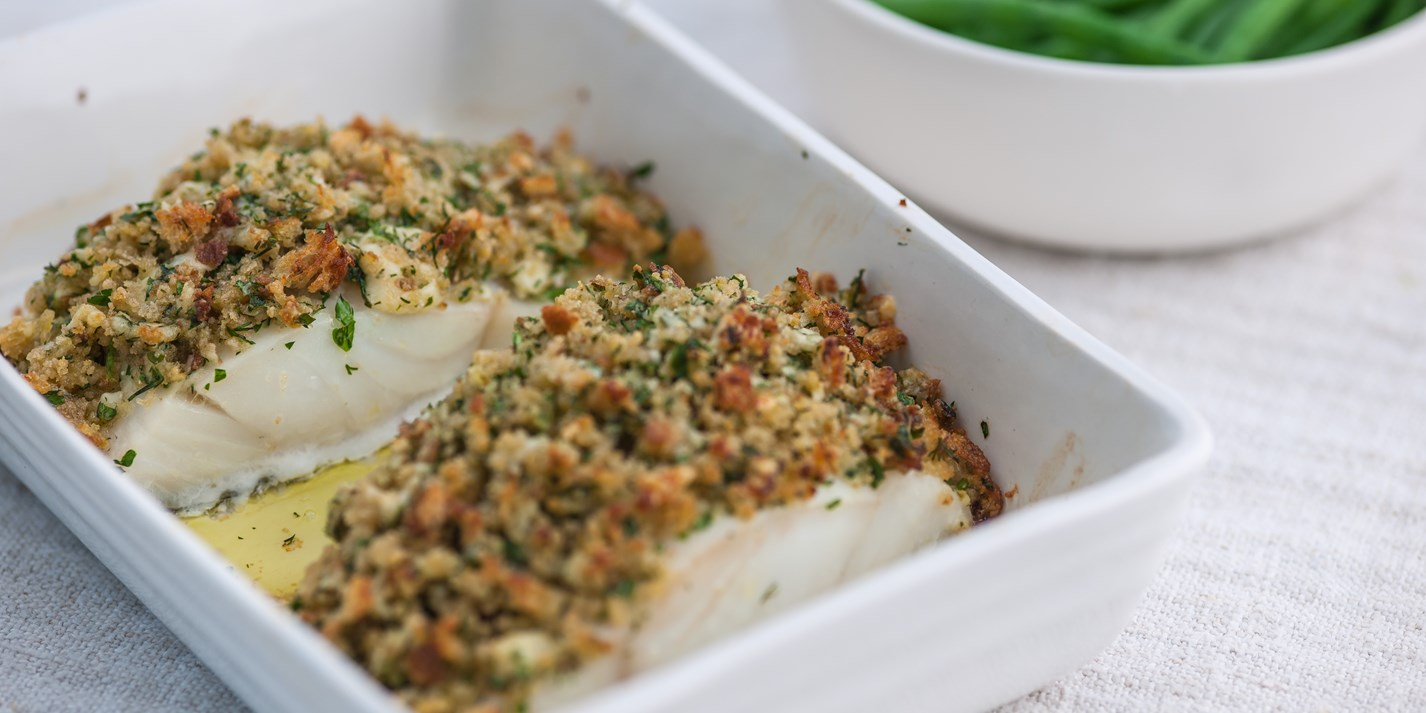 Pollock Recipe With Cheddar Amp Herb Crust Great British Chefs