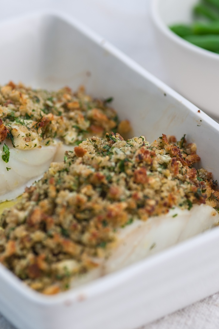 Pollock recipe with cheddar herb crust great british chefs for Baked pollock fish recipes