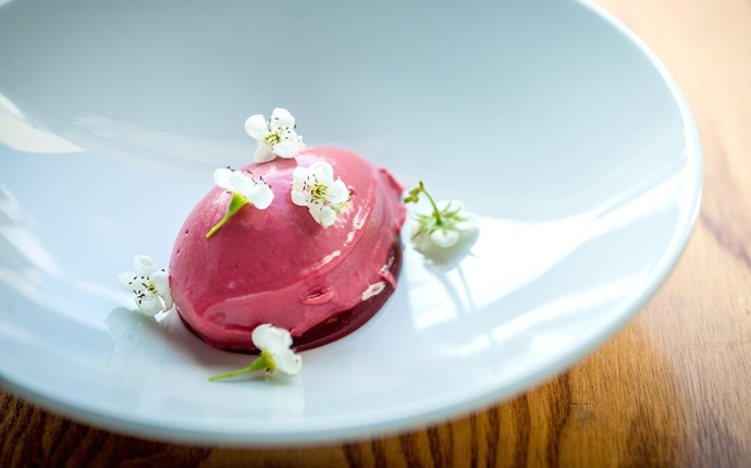 Spiced strawberry sorbet