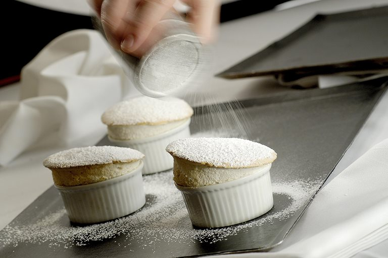 Hot banana soufflé