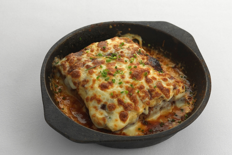 Beef and bacon lasagna