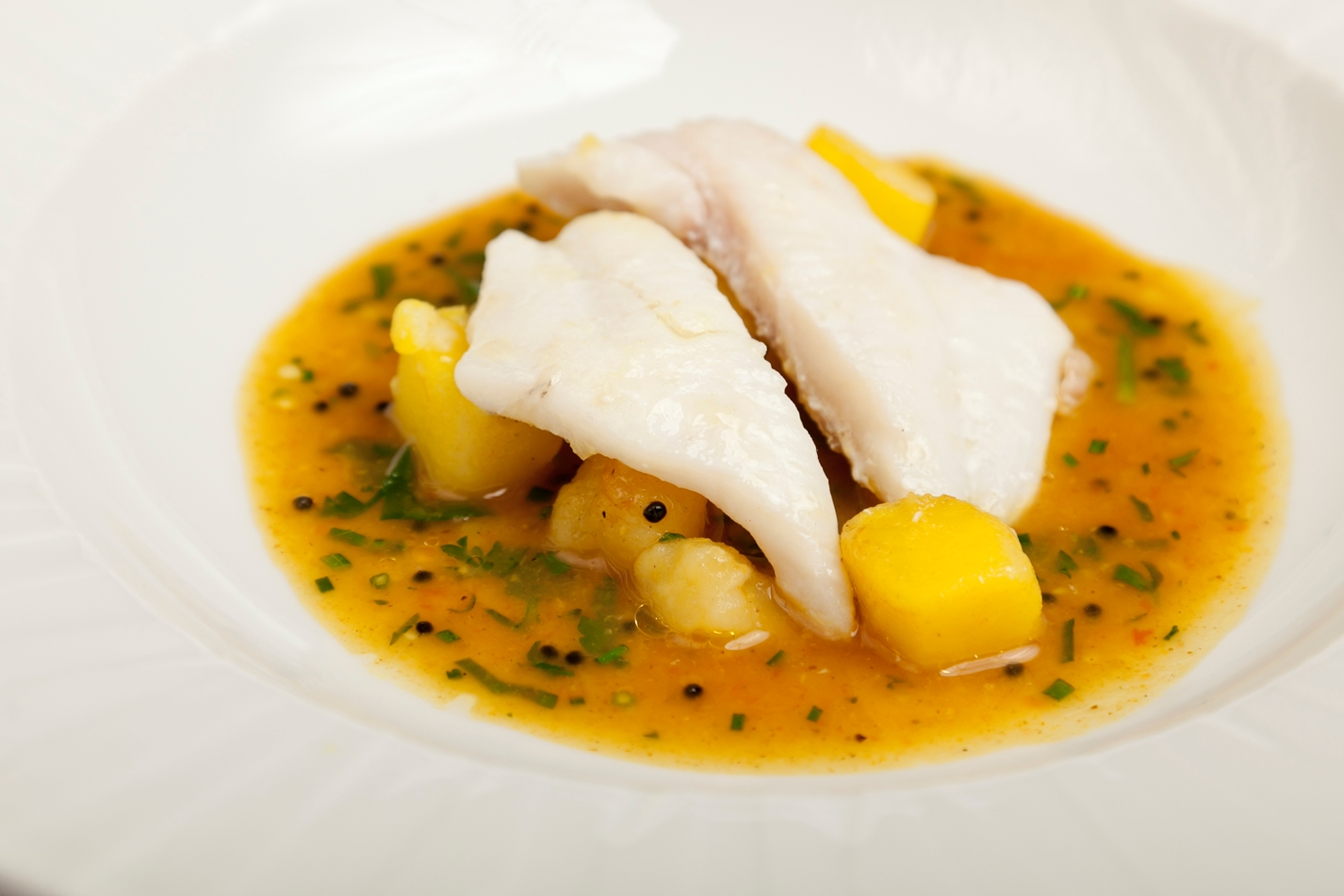 John Dory with potato rasam