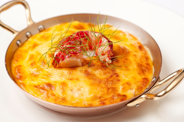 Glazed lobster omelette
