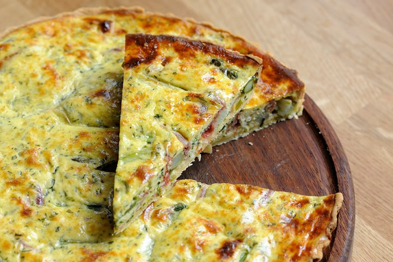 Asparagus and chervil quiche
