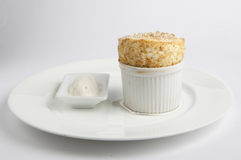 Lime and mascarpone soufflé