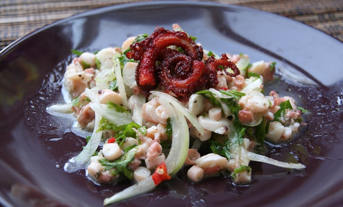 Fresh octopus salad