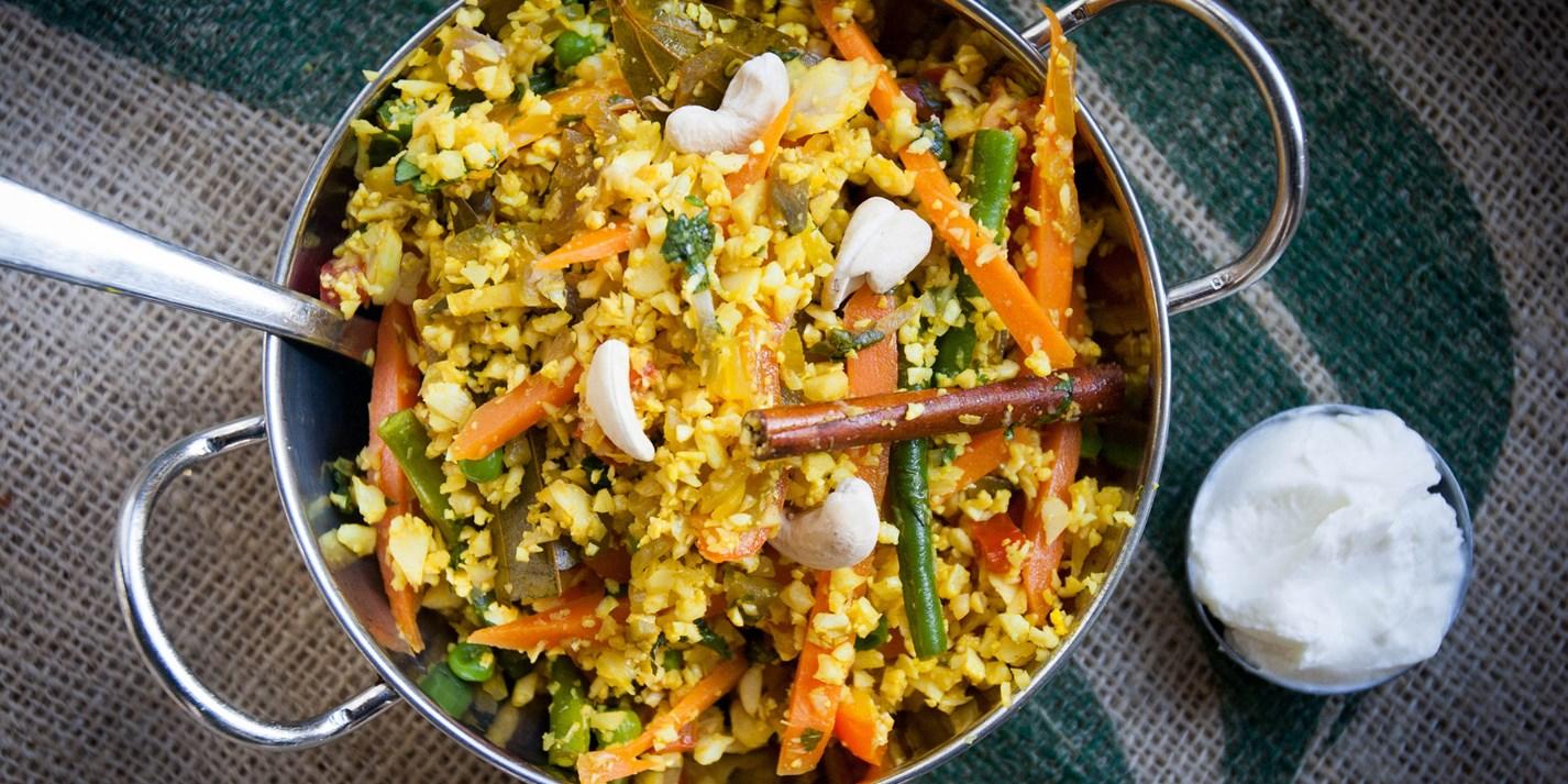 Cauliflower 'Rice' Biryani Recipe - Great British Chefs