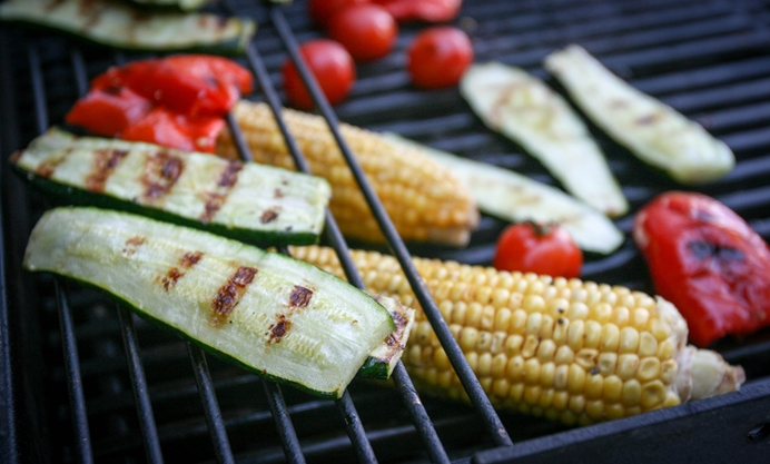 Grill the vegetables until nicely charred on all sides