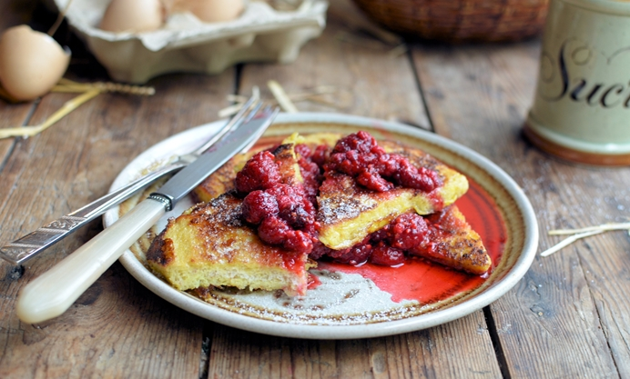 Serve with vanilla raspberry compote