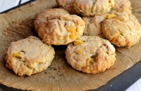Peach and cream scones