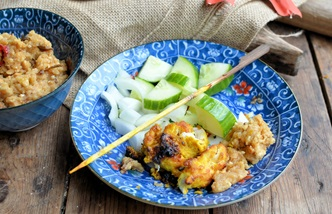 Singapore chicken satay