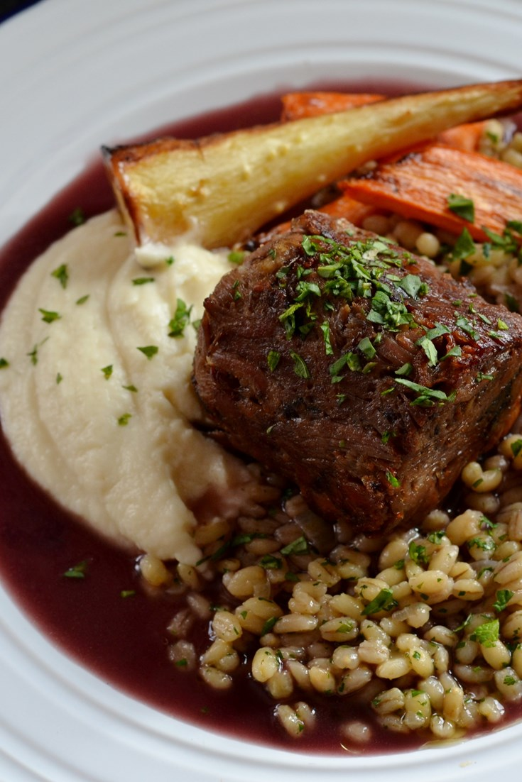 Braised And Set Lamb Shoulder With Pearl Barley Great