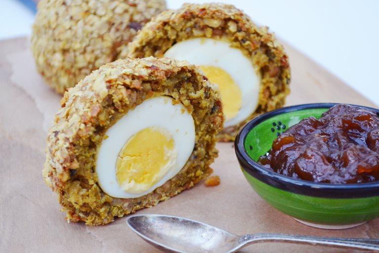 Vegetarian haggis scotch eggs recipe great british chefs vegetarian haggis scotch eggs forumfinder Images