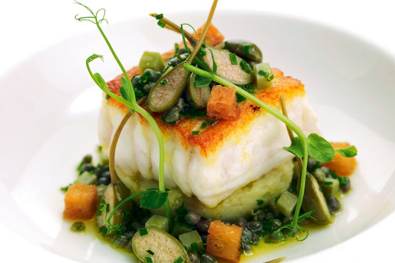 Sole Fillets, Jersey Royals & Sauce Grenoble - Great British Chefs