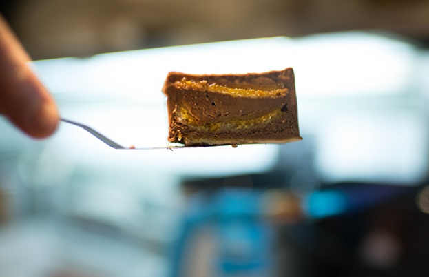 Bryn Williams on Odette's Jaffa cake - Great British Chefs