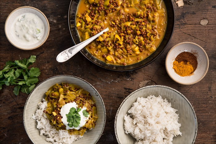 Indian vegetarian recipes great british chefs rhubarb and lentil curry forumfinder Images