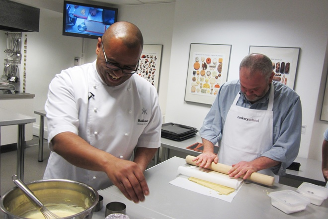 Graham Hornigold at Great British Chefs Cook School
