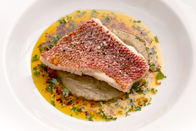Red mullet recipe with chilli garlic oil great british for Mullet fish recipe