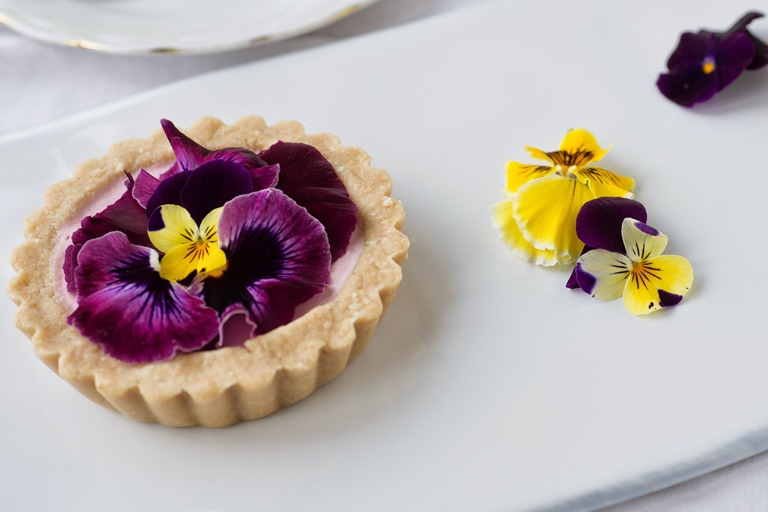 Strawberry and pansy tart recipe