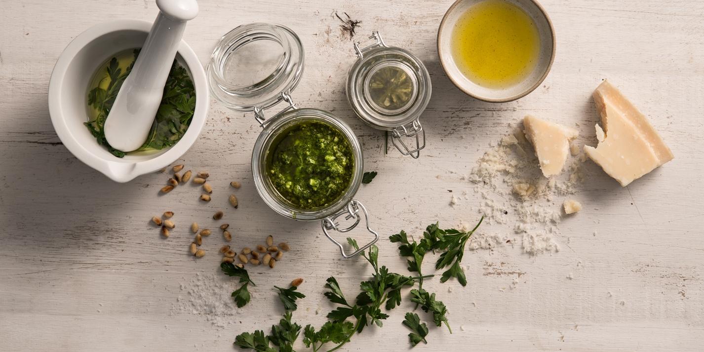 Wild garlic pesto recipe - Great British Chefs
