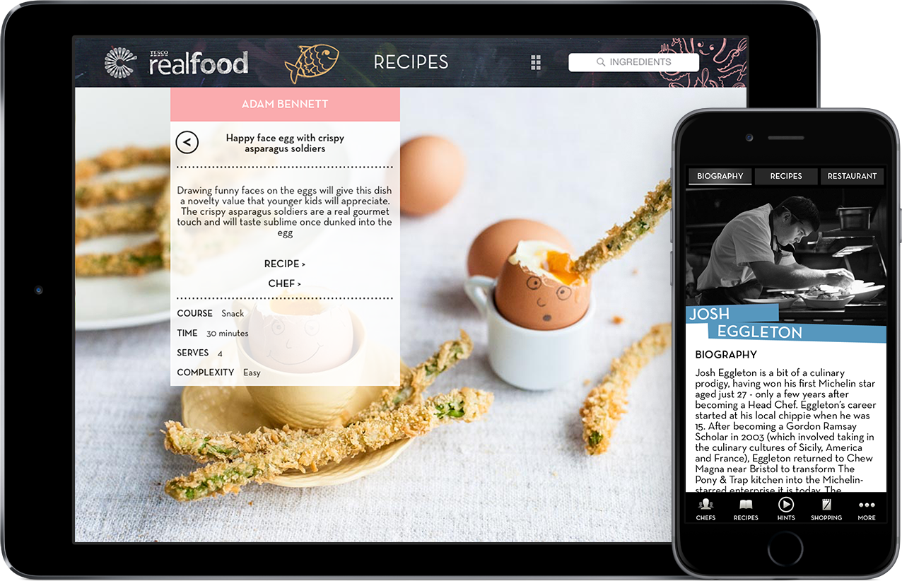 Cooking with kids iPhone and iPad app - Great British Chefs